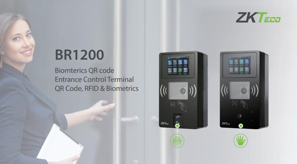 BR1200 biometric qr reader